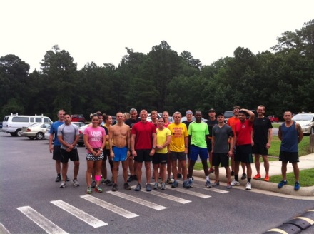 Raleigh  Trail Runners at Umstead Park.  They look fast.